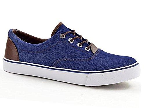 Foster Footwear Baskets Mode Pour Homme - - Bleu Marine, 44