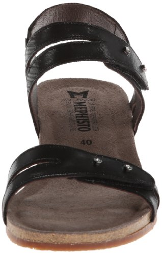 Black Leather Sandals Minoa Womens Mephisto wpqxC0R