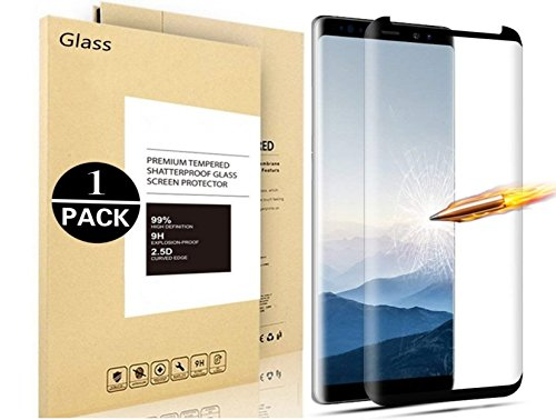 Galaxy Note 9 Screen Protector, Vigeer [ Full Coverage ] [Bubble-Free] [9H Hardness] [Easy Installation] [HD Clear] Tempered Glass Screen Protector for Samsung Galaxy Note 9 (Black)