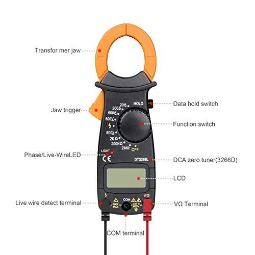 Kit de soldador con multímetro digital de abrazadera, herramienta de soldadura de temperatura ajustable Pancellent 60W, destornilladores 5 en 1, ...