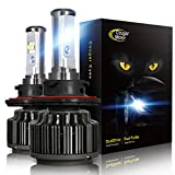 Cougar Motor 9007 LED Headlight Bulbs, High/Low All-in-One Conversion Kit, 7200 Lumen (6000K Cool White) - Adjustable Beam Pattern