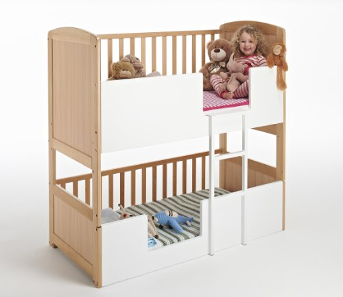 The Bunk Cot Company 3 In 1 Bunkcot 0 6 Yrs Beech Amazon Co Uk Baby