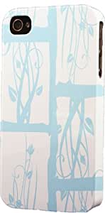 Blocked Blue Floral Pattern Dimensional Case Fits Apple iPhone 5c