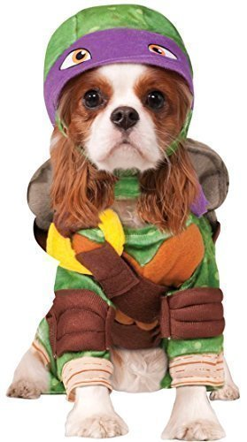 Pet Dog Cat Donatello Teenage Mutant Ninja Turtles Halloween Film Cartoon Fancy Dress Costume Outfit Clothes Clothing (Small, Purple (Donatello)) -