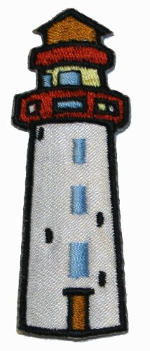 Lighthouse Iron On Applique Patch (Applique Lighthouse)