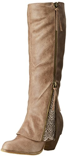 Not Rated Women's Sassy Classy Riding Boot, taupe, 7 M US