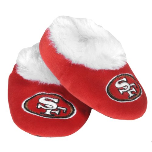 FOCO San Francisco 49ers Logo Baby Bootie Slipper (Nfl San Francisco 49ers Slipper)