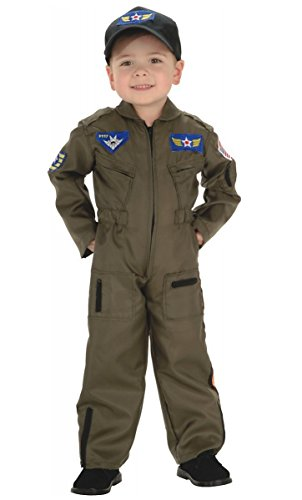 Kid Air Force Fighter Pilot Top Gun Halloween Costume M Boys Medium (5-7 years) - Top Gun Costume Baby