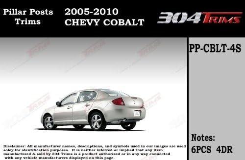 Fits Chevy Cobalt 2005-2011 Stainless Steel Chrome Pillar Posts Trim 6PCS