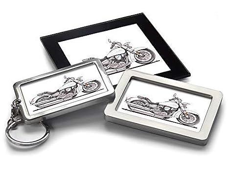 Koolart Cartoon Moto Honda VTX 1300 Llavero Magnet Posavasos ...