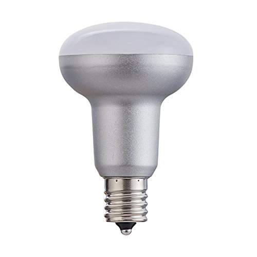 White Compact Bollards - (Pack of 4) LED BR16 R16LED bulb E17 Silver Style 5W (50WR14 Flood light bulb equivalent)energy saving 90% 5000K Daylight White Indoor and Other Decorative Lighting,Dimmable
