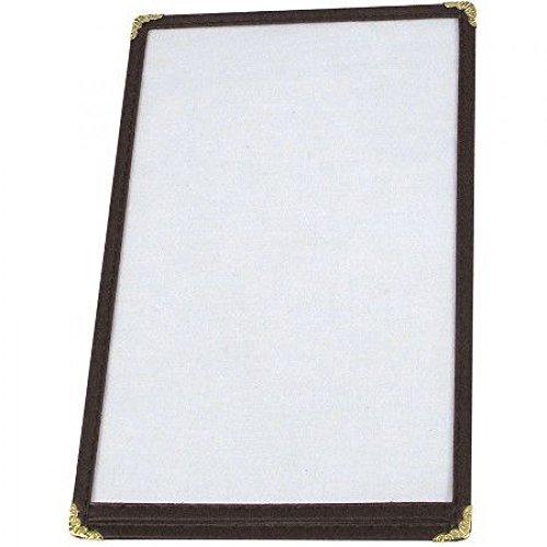 Winco Single Menu Cover, 8.5-Inch x 5.5-Inch, Black, 10 Pack!