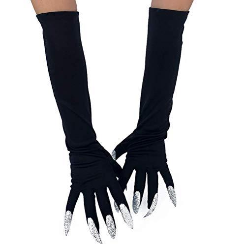 (Pair of Halloween Long Gloves Creepy Nails Fingernails Gloves Halloween Cosplay)