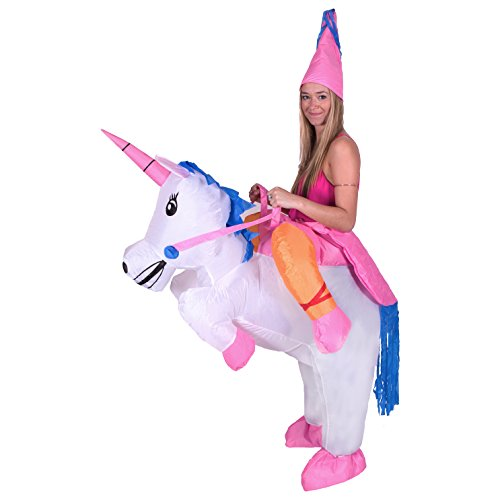 [Bodysocks - Inflatable Ride Me Adult Carry On Animal Fancy Dress Costume (Unicorn)] (Funny Costumes)