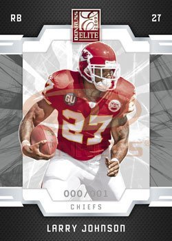 Larry Johnson - Kansas City Chiefs - 2009 Donruss Elite NFL Trading Card (2009 Elite Single City)