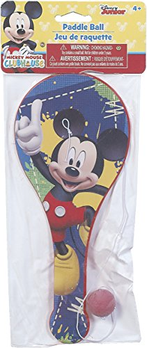 - SOLD in 12 Pieces - New Disney Mickey Mouse Toys Paddle Ball Perfect for Birthday Party Favor Goodie bags - WONDERS SHOP USA