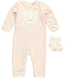 Carter\'s Terry Coverall (Baby) - Pink-NB