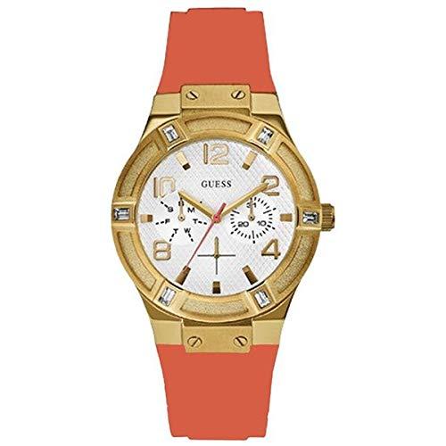 Guess Reloj analogico para Mujer de Cuarzo con Correa en Caucho W0564L2: Amazon.es: Relojes