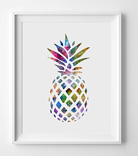 Watercolor Pineapple Art Poster Wall Art Home Decor Gift Nursery Watercolor Fine Art Paper Ananas Inspiration No Framed AP082