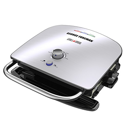 George Foreman GBR5750SSQ Grill & Broil Counter Top, One Size, Silver by George Foreman