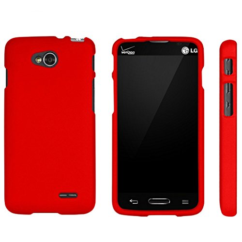 Protective Case for LG Optimus L90 W7 D415 Slim Two Piece Snap On Case Hard Plastic Rubberize Feel - Case Lg L90 A For
