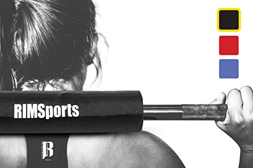 RIMSports Elite Olympic Barbell Pad By Best Fitness Barbell Pad For Squats & Lunges - Premium Squat Bar Pad For Bodybuilding, Cross Training - Ideal Squat Barbell Pad For Barbell Pad Hip Thrust