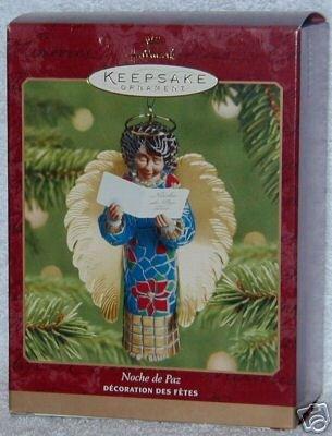 Hallmark Angel 2001 NOCHE DE PAZ Silent Night Singing Keepsake Ornament