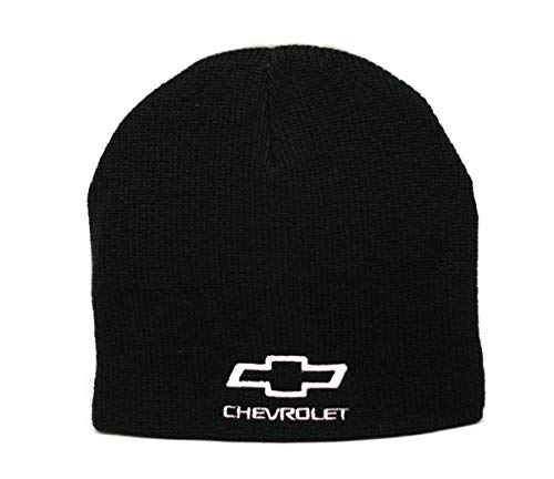 Hat - Chevrolet Cuffless Knit Beanie W/Embroidered Logo Black