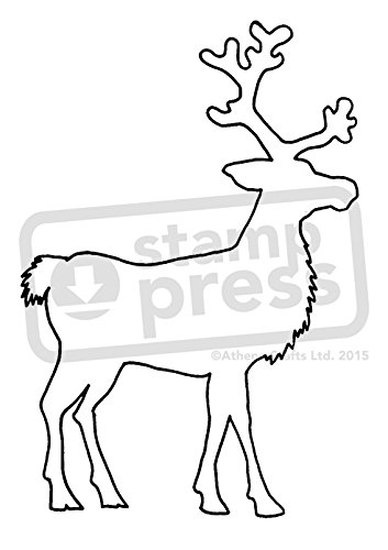amazon com a7 reindeer outline unmounted rubber stamp sp00001652