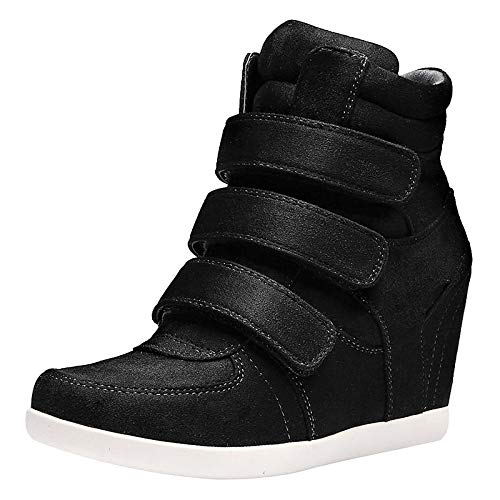 Comfort Boots Spring Zapatos Sneakers Wedge de Azul Vino Leather Nappa ZHZNVX Heel Mujer Blue Fashion Marrón YA8wxq