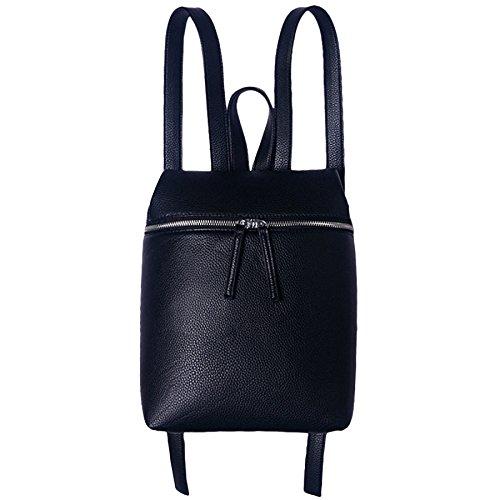 à Mode Sac PANGOIE Noir à PU Blanc Bandoulière à Femme Sac Simple Noir Dos Sac Cuir Dos xHpqdq05w