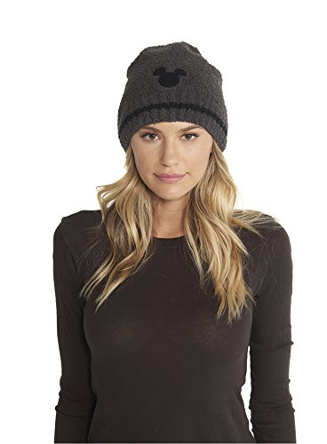 Barefoot Dreams CozyChic Adult Classic Mickey Mouse Beanie Disney Series Carbon/Black