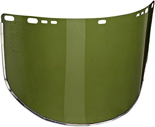 Jackson Safety Faceshields, 34-42 Dark green, bound, bulk, 9'' x 15.5'' x .040''