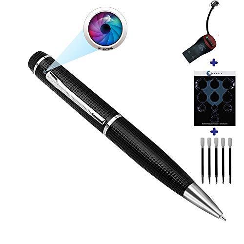 Pen Camera GEAGLE 1080p HD Hidden Spy Camera Pen | External Memory | Motion Detection | Night Vision | + USB Card Reader + 5 Ink Refills