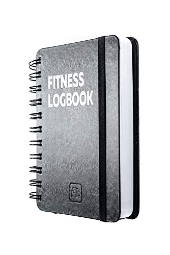 Fitness Logbook Mini: Undated Workout Journal - 4 x 6 inches - Thick Paper, Hard Cover, Elastic Closure, Round Corners, Sturdy Binding - Compact, Stylish, Minimalistic and Easy-to-Use Gym Log Book