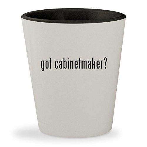 got cabinetmaker? - White Outer & Black Inner Ceramic 1.5oz Shot (Cabinetmaking Set)
