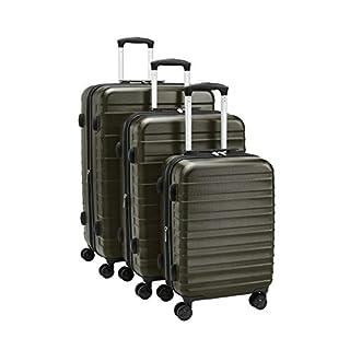 """AmazonBasics 20""""/24""""/28"""" Luggage Set, Green"""