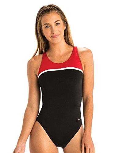 Dolfin Women's Ocean Panel HP Back | AMZ464HP (26, Black/Red)