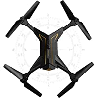Secba Foldable Headless RC Drone 2.4Ghz 4CH 6Axis Gyro RC Quadcopter W/ Camera KY601 (Gold)