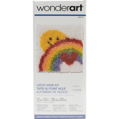 "Wonderart Sunshine Rainbow Latch Hook Kit, 12"" X 12"""