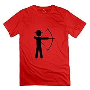 Crazy 100% Cotton Archery T Shirts For Men