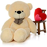 Lovebug Cute Bootsy Creem 90 cm 3 feet Huggable and Loveable for Someone Special Teddy Bear - 90 cm(Creem)