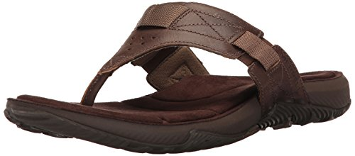 Merrell Men's Terrant Thong Sandal, Dark Earth, 10 M US by Merrell