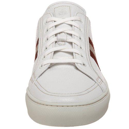 Sneaker Bally Mens Presna-17 Bianco-rosso / Beige
