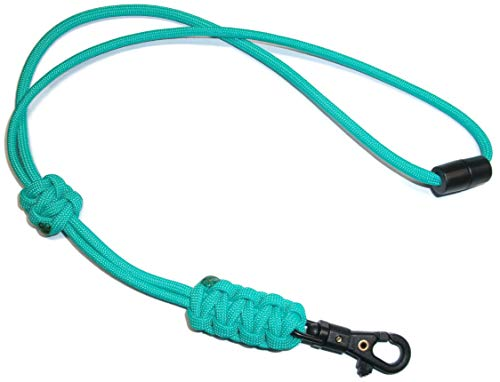 - RedVex Paracord Cobra Neck Lanyard with Safety Break-Away and Adjuster - ABS Clip - Choose Your Color and Size (Customization Available) (20 inch, Teal)