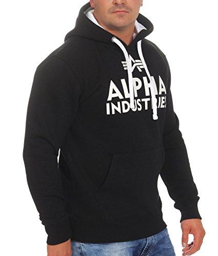 Sweat Blanc Alpha Noir pour Industries Homme zxRw6pZq