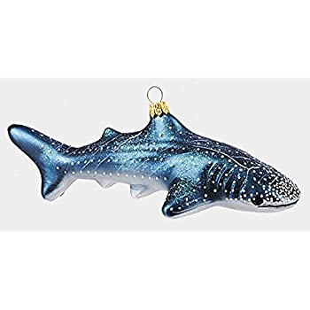 Pinnacle Peak Trading Company Whale Shark Ocean Life Polish Mouth Blown  Glass Christmas Ornament Decoration - Amazon.com: Whale Shark Sealife Polish Glass Christmas Ornament