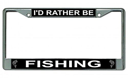 I'D Rather Be Fishing Photo License Plate Frame ()