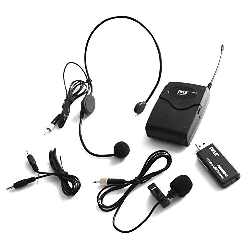 Pyle Belt Pack Wireless Microphone System - Mic Set with USB