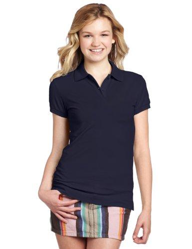 Dickies Girl Juniors Short Sleeve 2 Button Pique